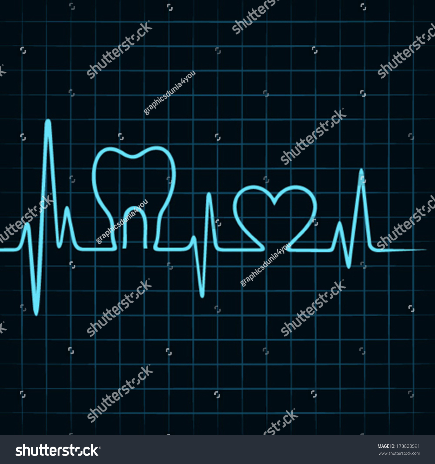 Heart tooth vector