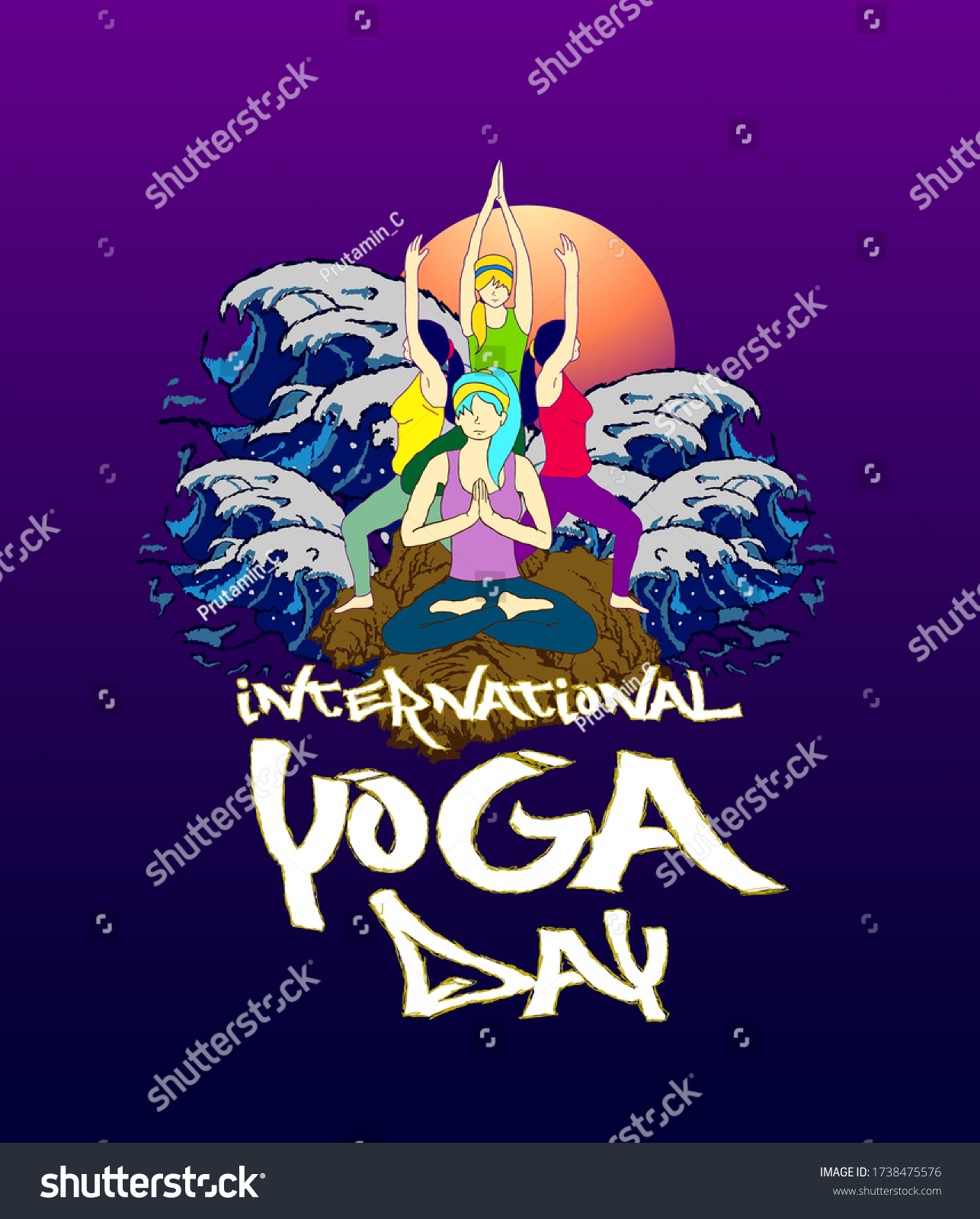 21 june international yoga day background, poster and t-shirt design, banner with yoga body posture vector illustration Embroidery Men T-shirts Summer Casual Short Sleeve Hip Hop T Shirt Streetwear