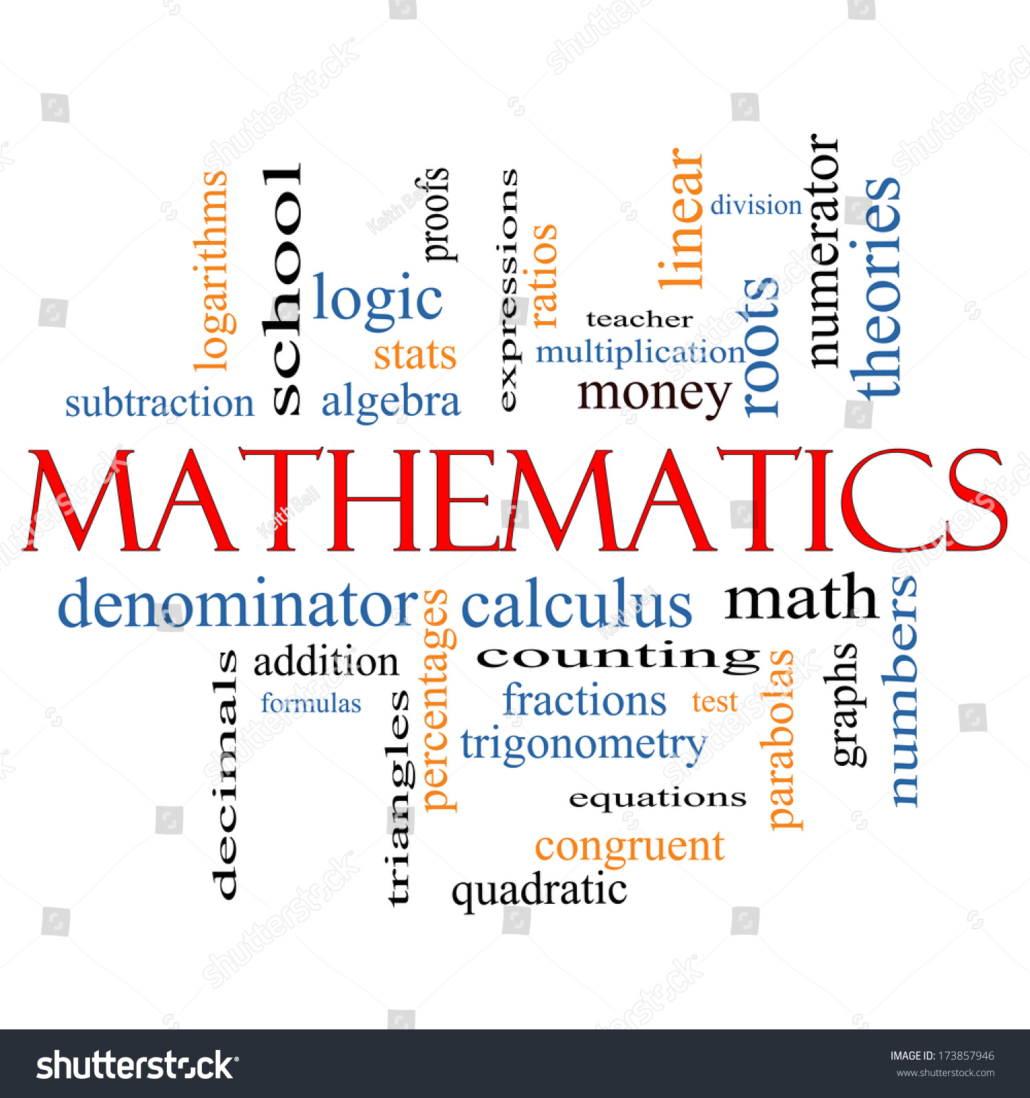 Mathematics Word Cloud Concept Great Terms Stock Illustration ...