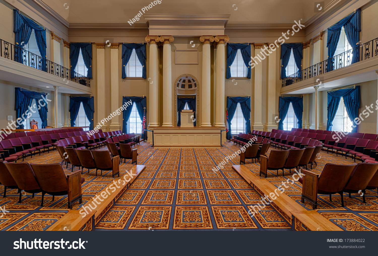 JACKSON, MISSISSIPPI   JANUARY 14: House Of Representatives Chamber In The  Old Mississippi State
