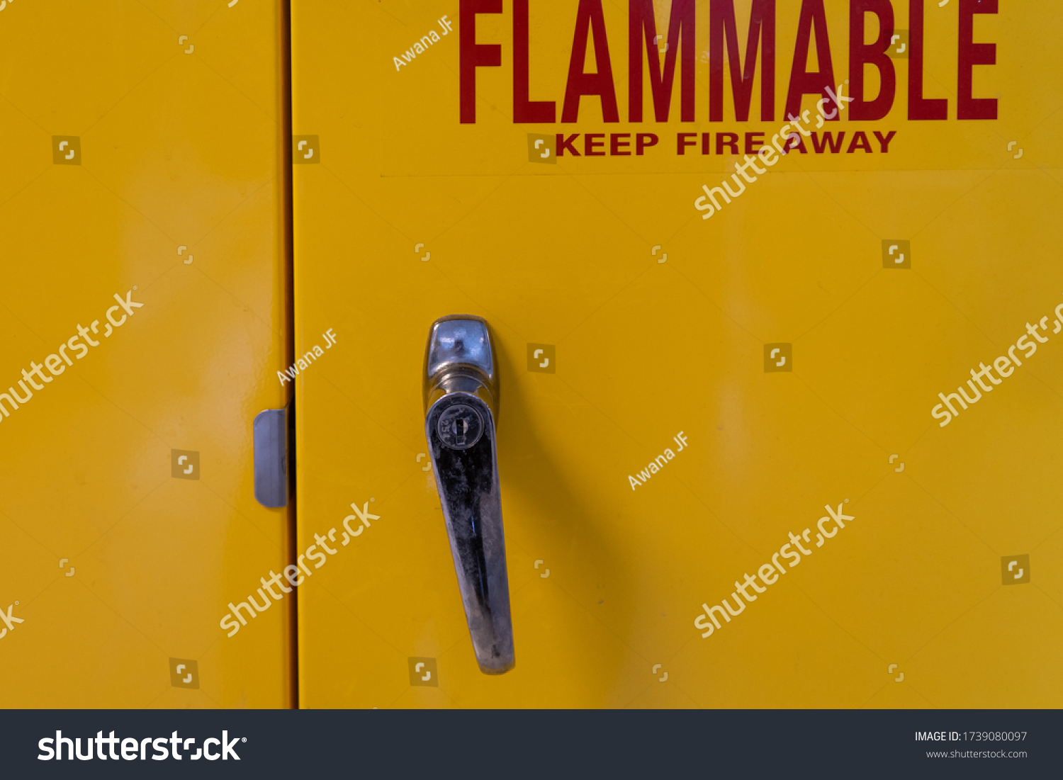 stock-photo-yellow-doors-of-a-flammable-