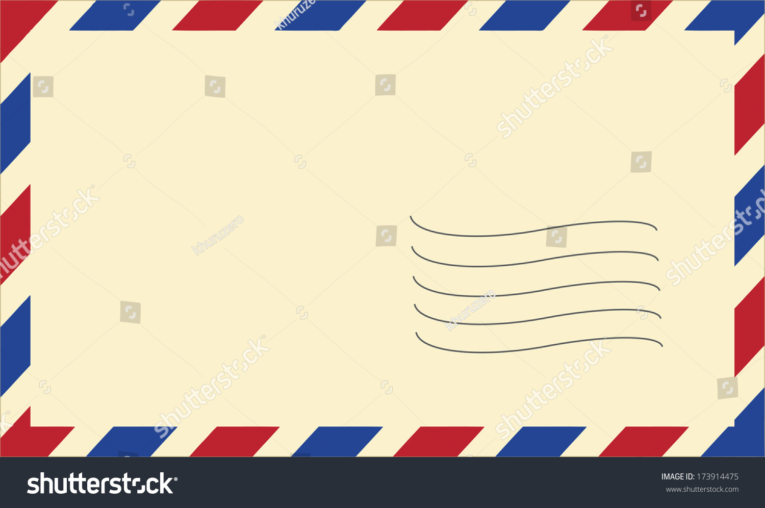 Vector Mail Envelope On White Background Stock Vector 173914475 ...