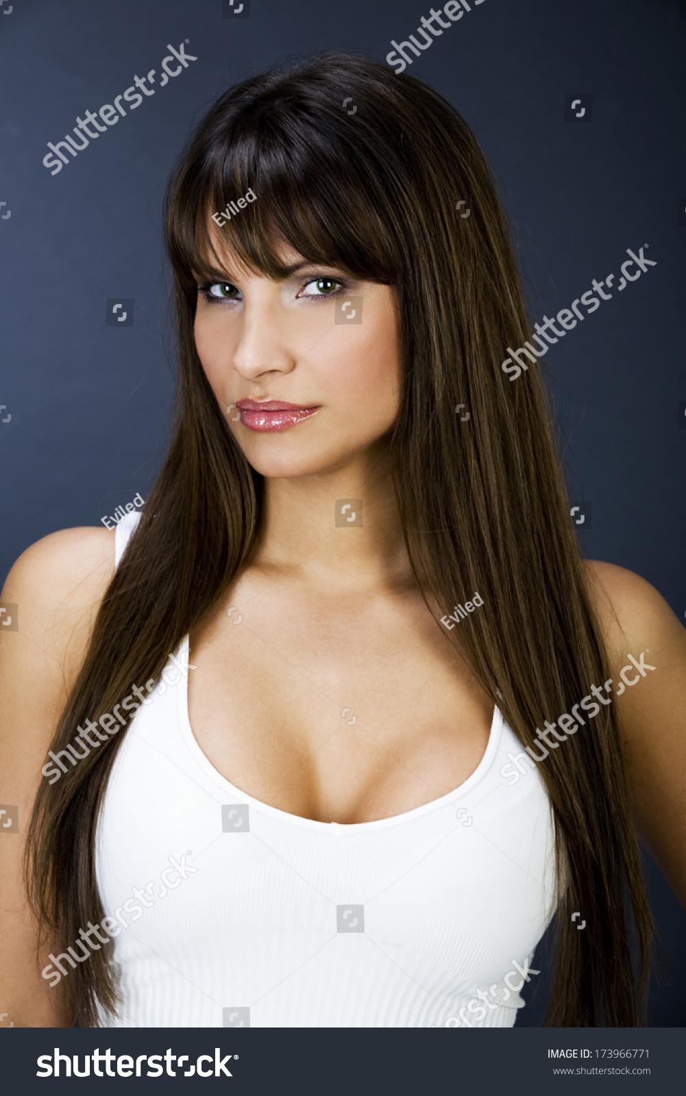 portrait beautiful women big boobs stock photo (edit now) 173966771