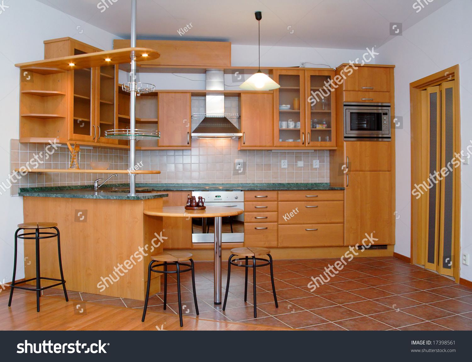 Beautiful Kitchen And Dining Room Stock Photo 17398561