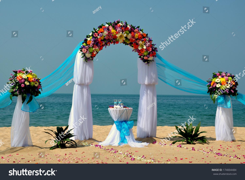 Tropical Beach Wedding Beautiful Arch On The