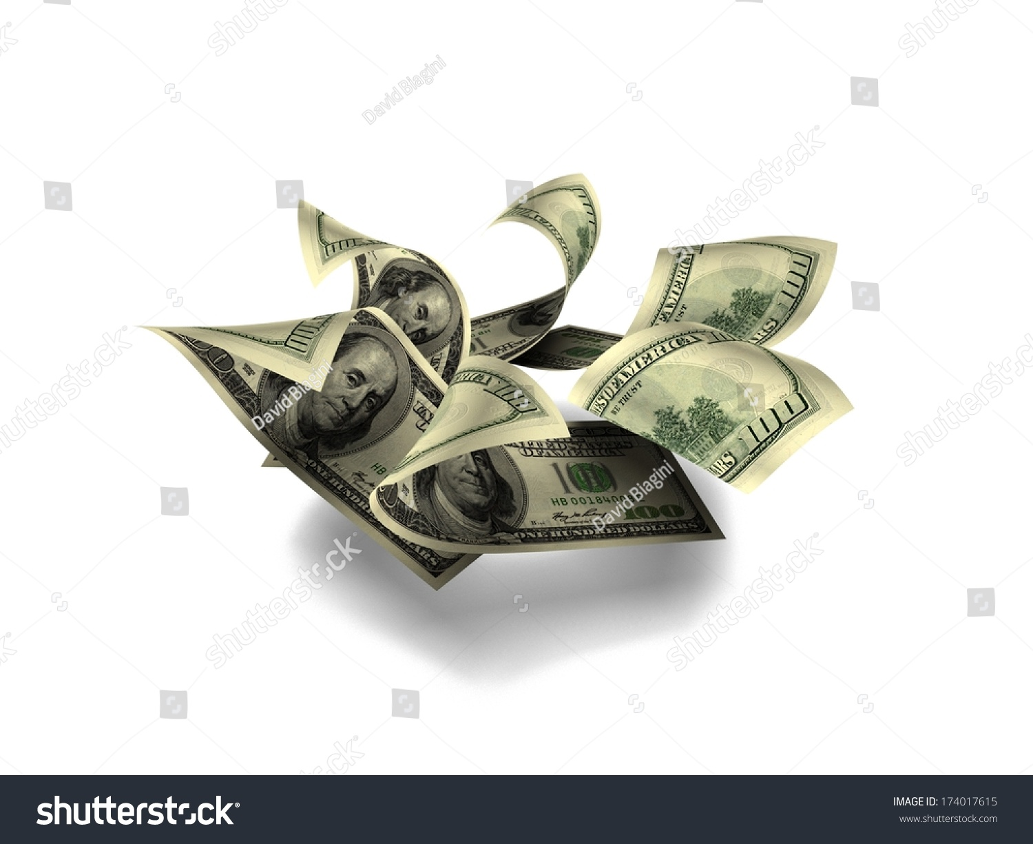 Money Flower One Hundred Dollar Notes Stock Illustration 174017615