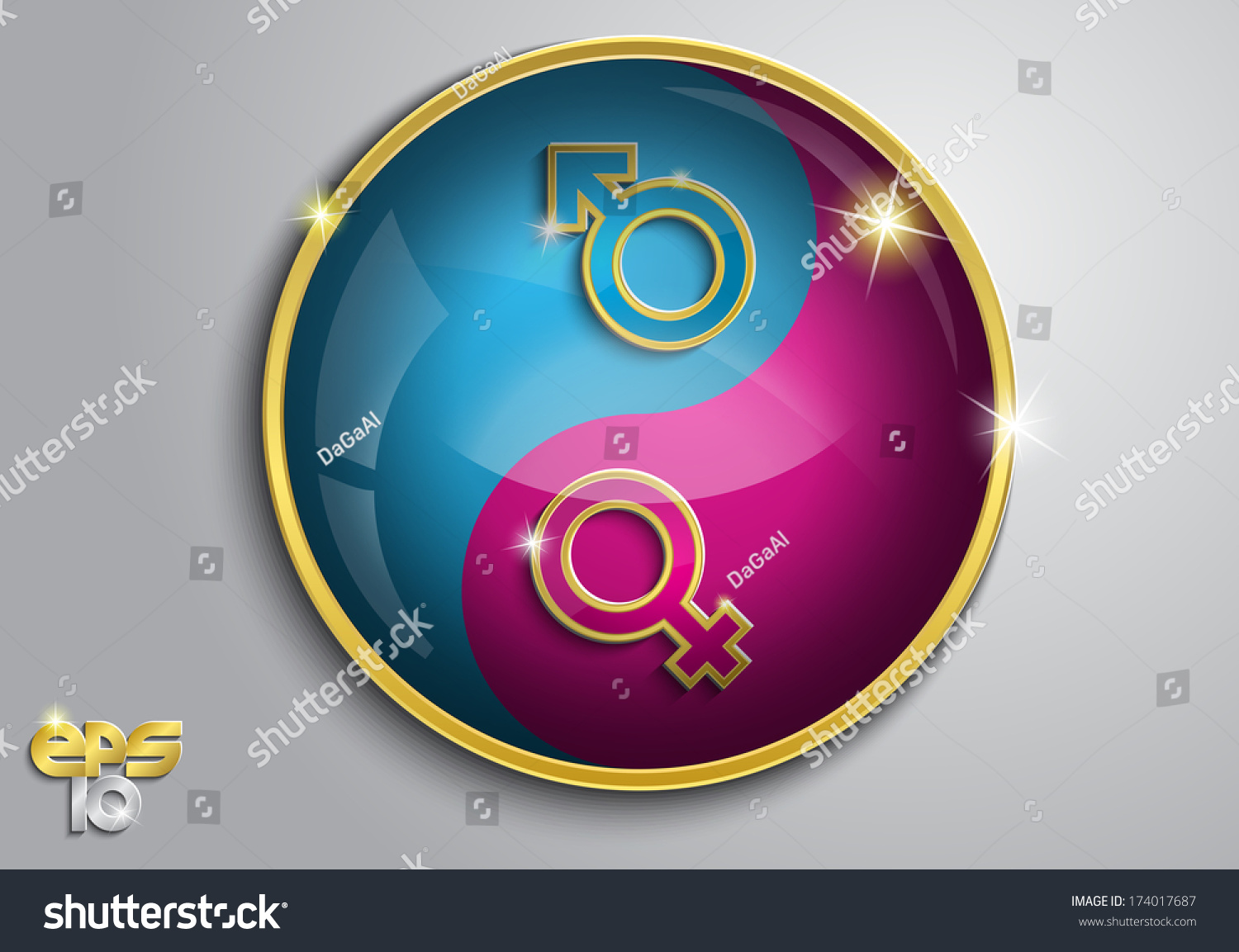Pink Blue Symbol Male Female On Stock Vector 174017687 Shutterstock