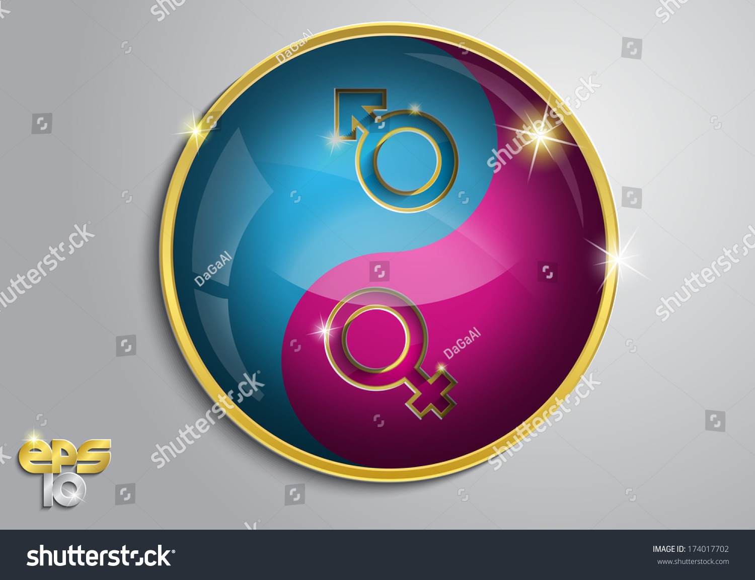 Pink Blue Symbol Male Female Sign Stock Vector 174017702 Shutterstock