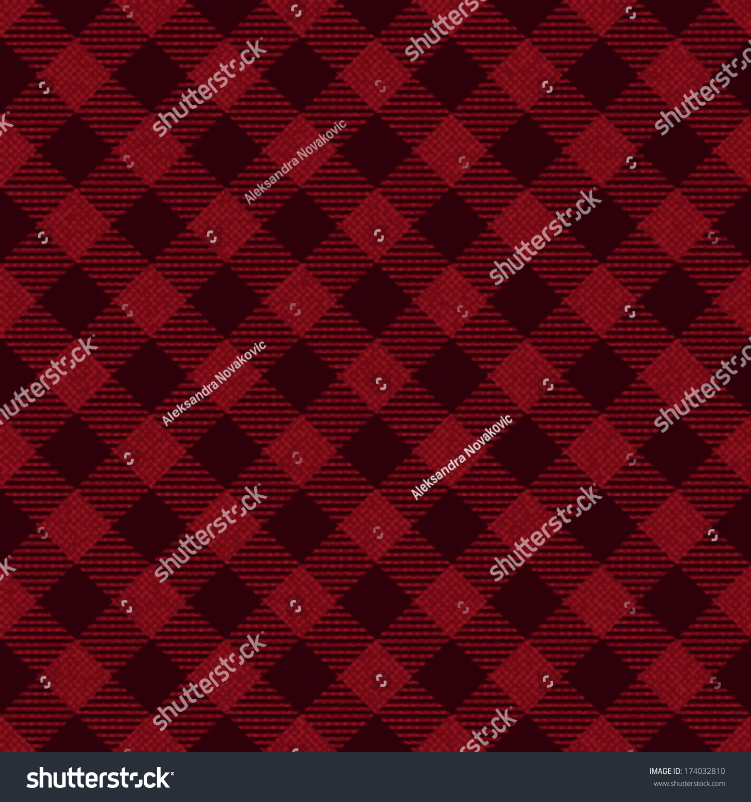 Red Black Checkered Fabric Pattern Background Stock Vector Royalty