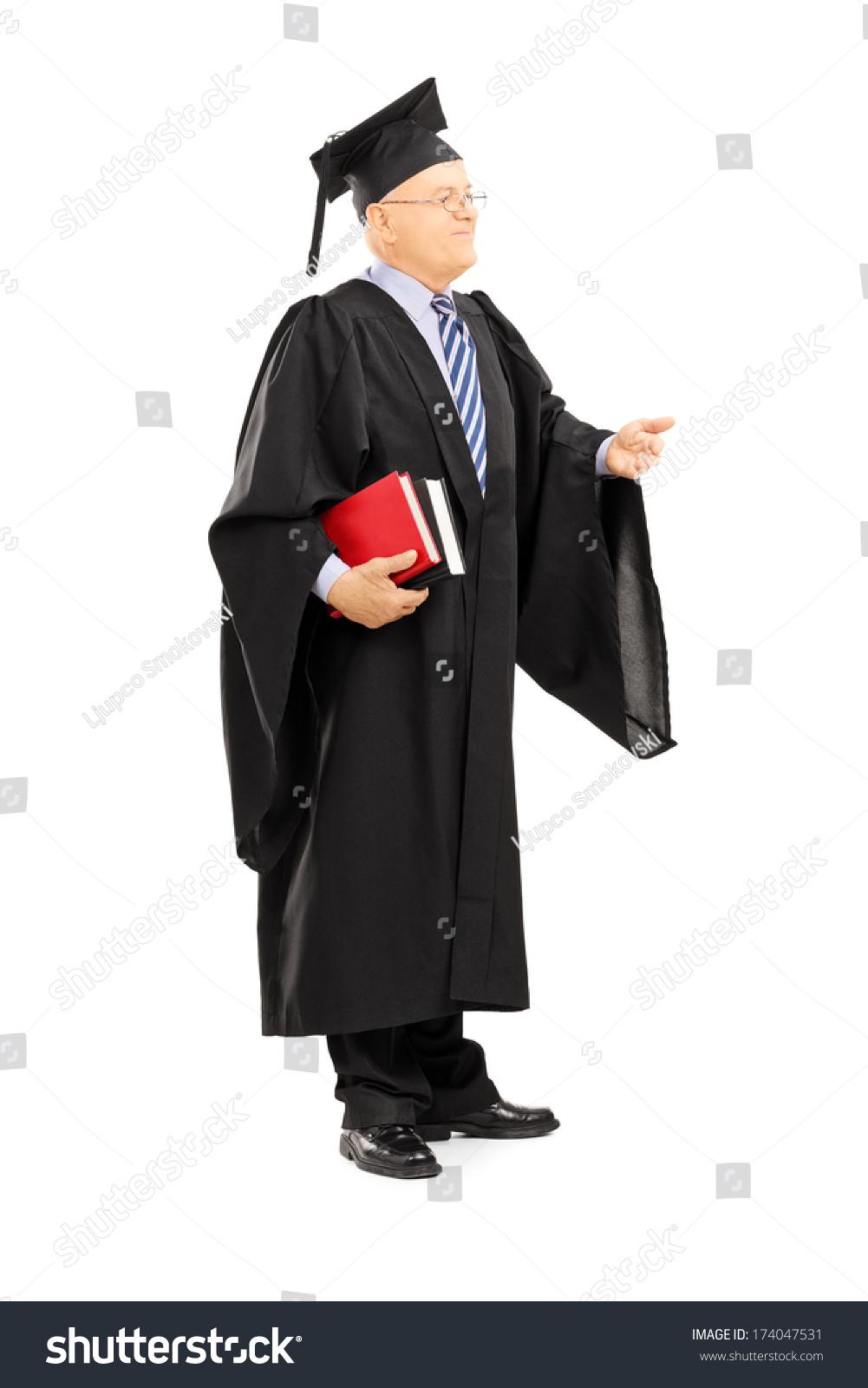 Full Length Portrait College Professor Graduation Stock Photo (Edit ...
