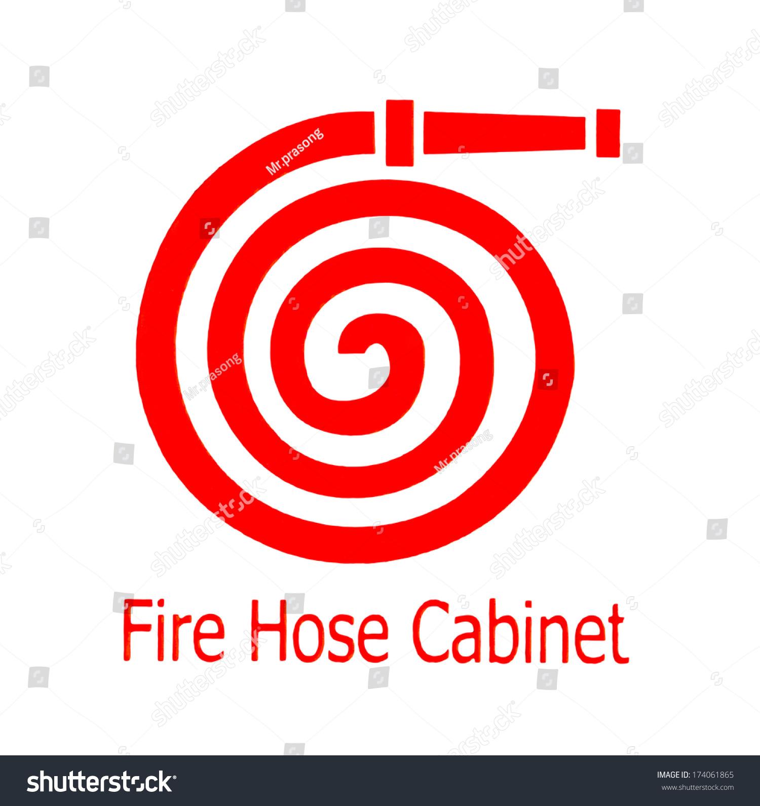 Fire Hose Symbol Stock Illustration 174061865 - Shutterstock