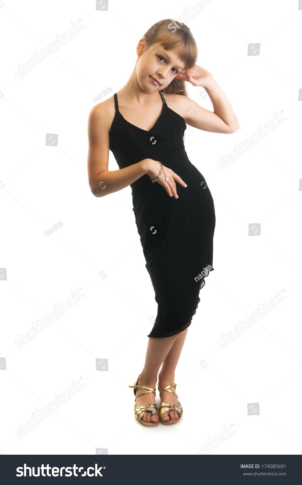 nude skinny black hair girl