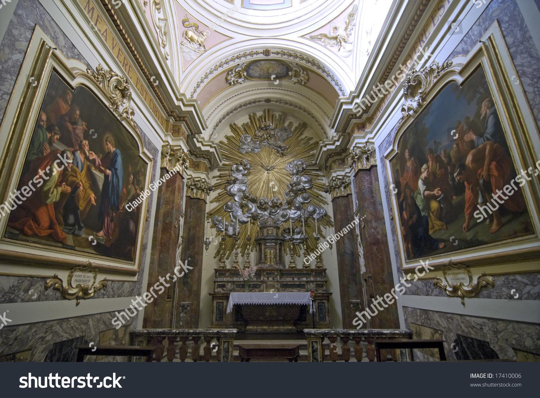 Cagli Pesaro Urbino Marche Italy Interior Stock Photo ...