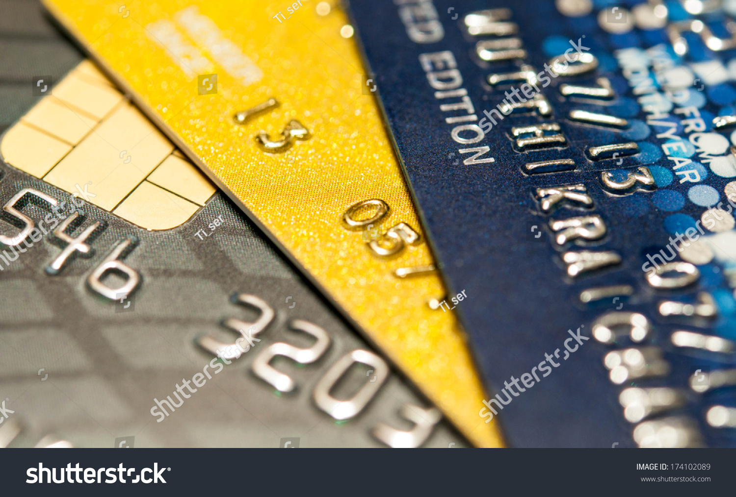 Credit Card Background Abstract Stock Photo 174102089