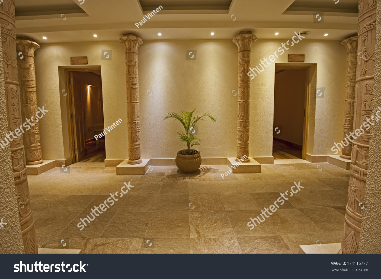 Interior Design Concept Luxury Health Spa Objects Stock Image 174116777