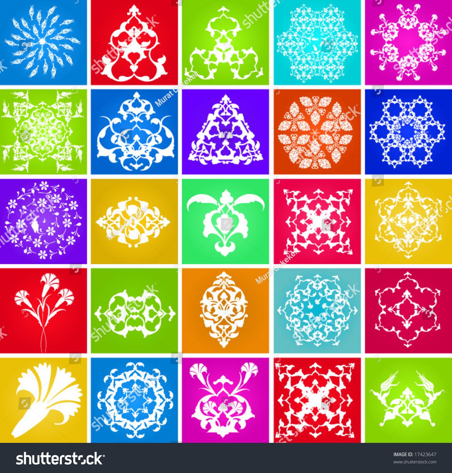 Turkish Design traditional ottoman turkish design elements patterns stock vector