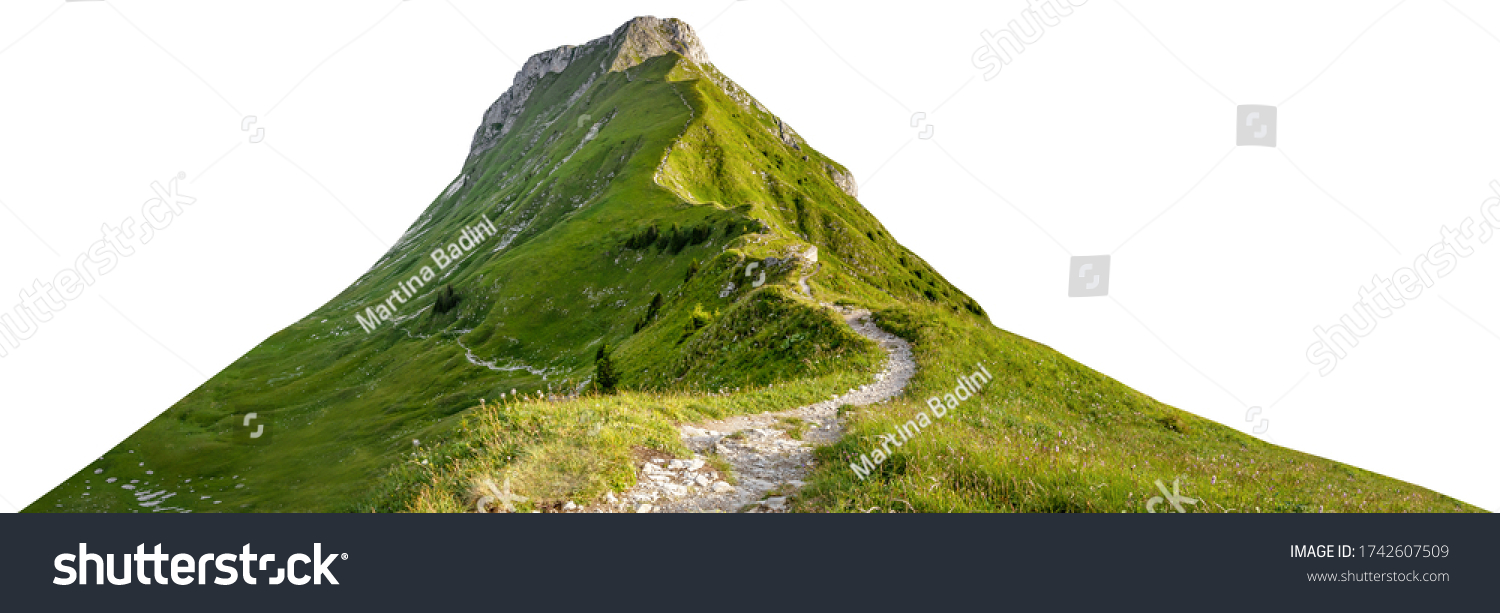 Mountain path isolated on white background #1742607509