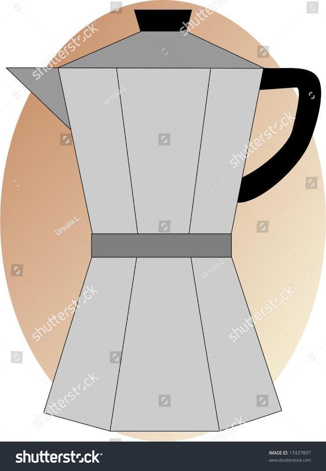 Italian Coffee Maker Vector : Vector Illustration - Italian Espresso Maker - 17437897 : Shutterstock
