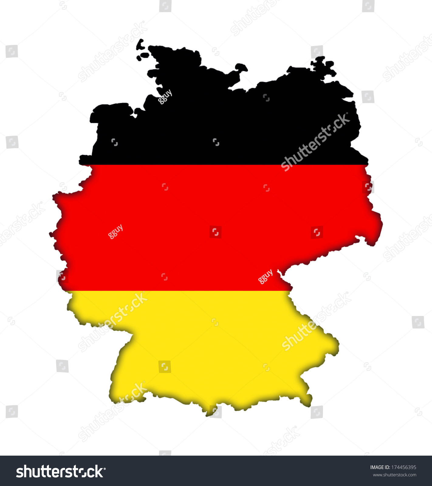 german flag banner map icon germany stock illustration 174456395