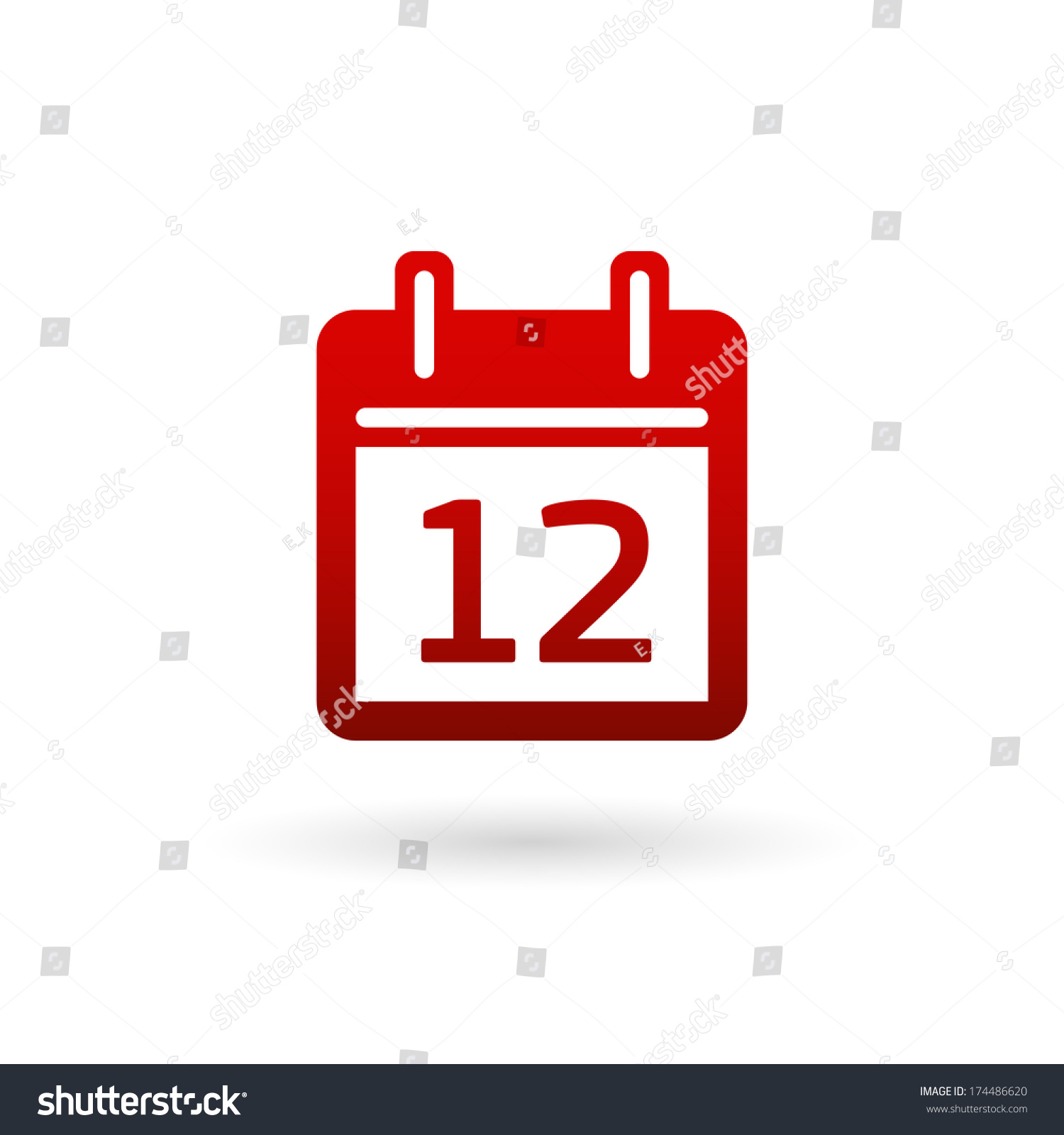 Calendar icon design — Stock Vector © Best3d #80800152
