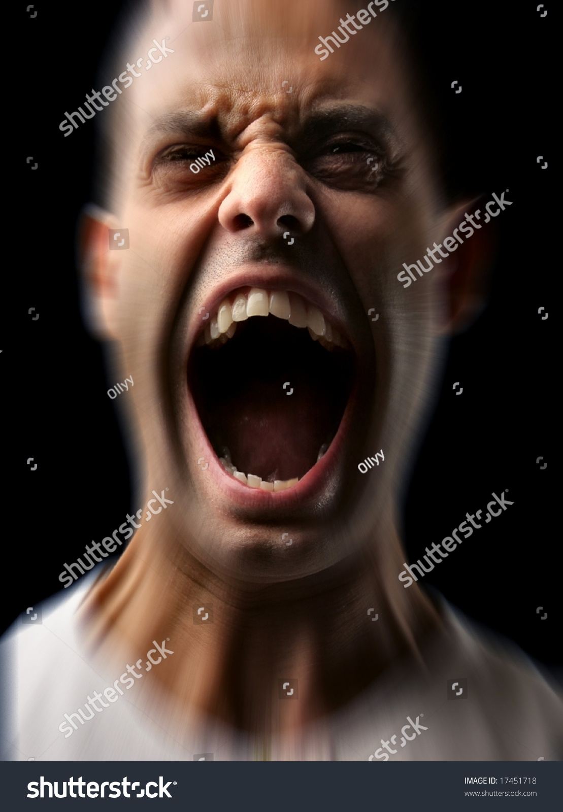 Angry Man Screaming Stock Photo 17451718 : Shutterstock