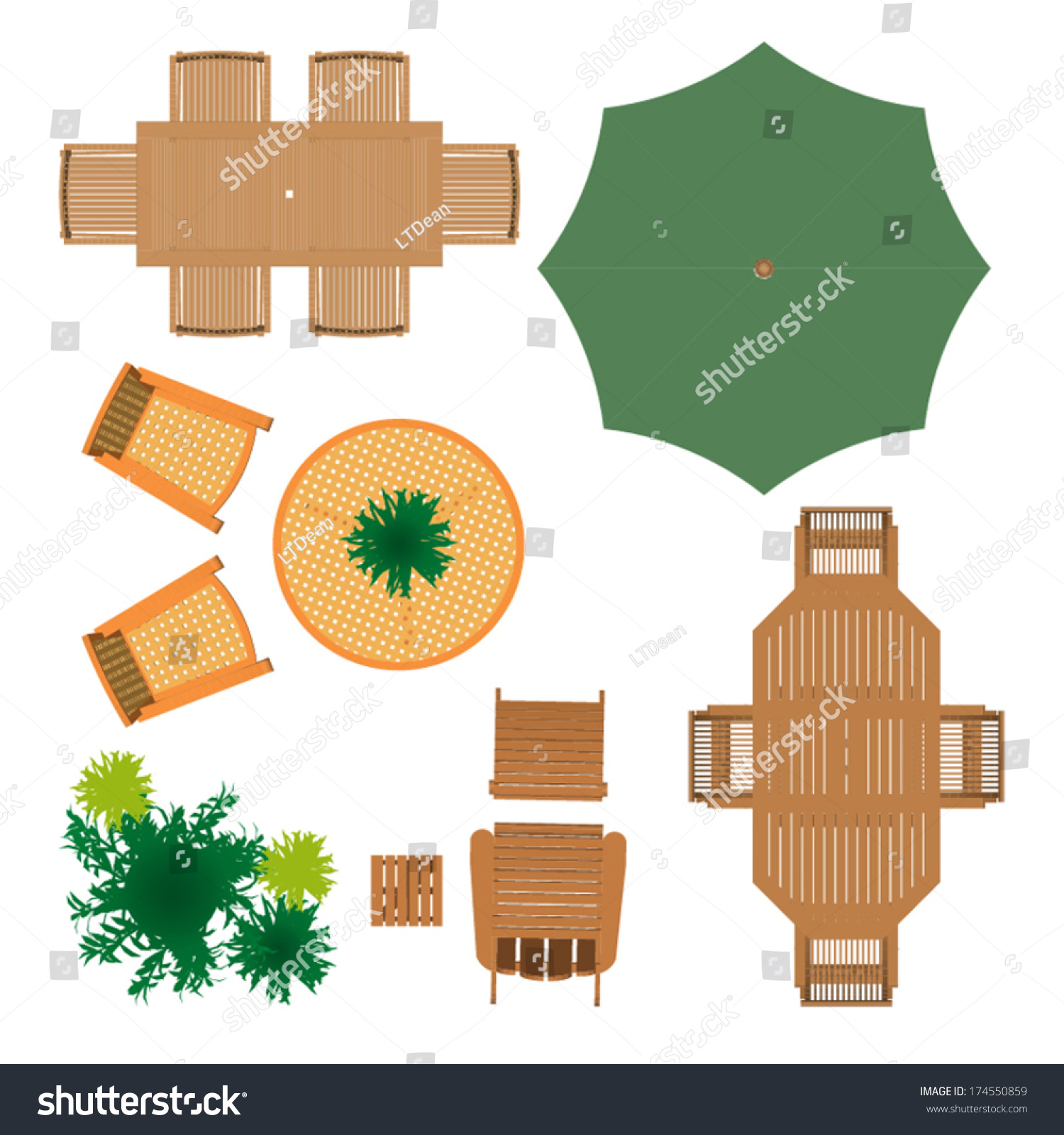 images garden furniture top view psd - Garden Furniture Top View Psd