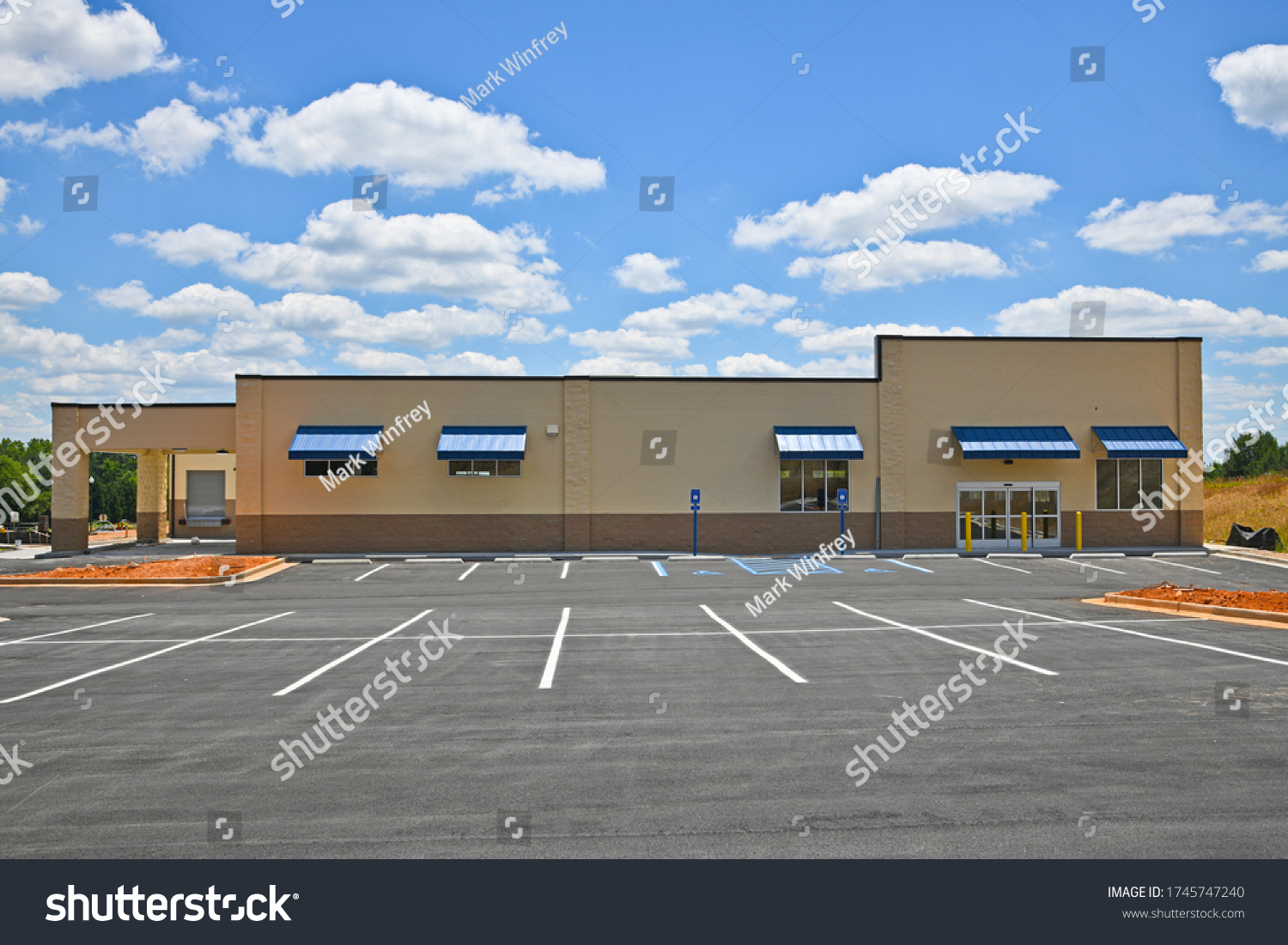 stock-photo-new-commercial-building-with