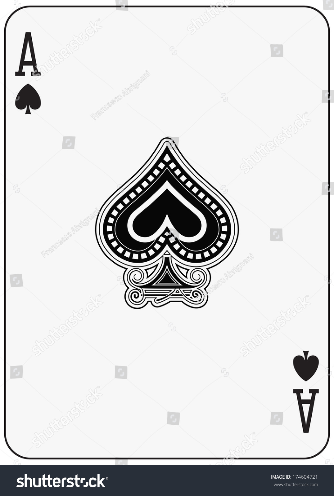 Ace spade playing card stock illustration 174604721 shutterstock ace of spade playing card biocorpaavc Choice Image