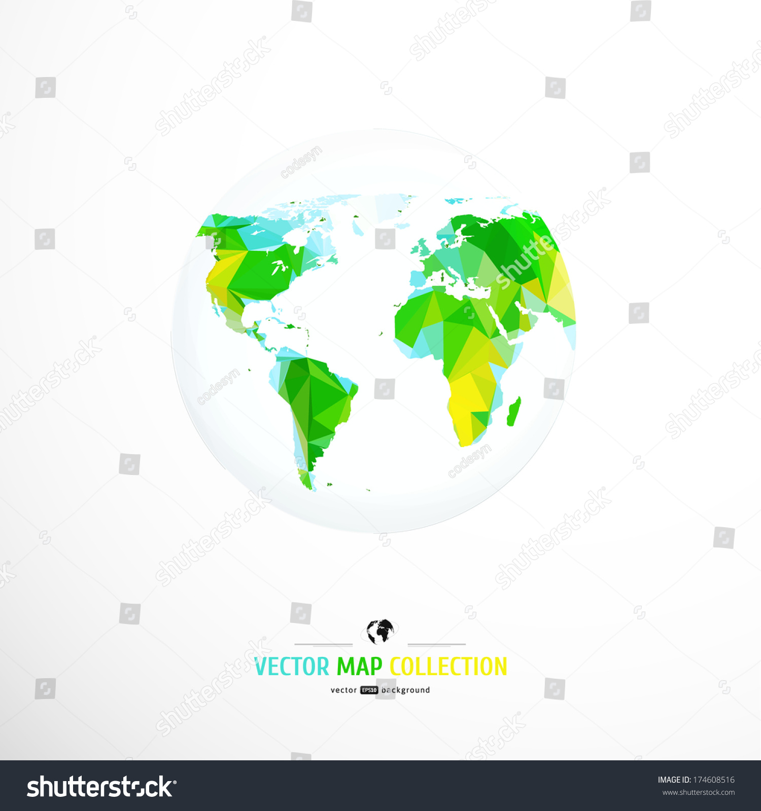 Vector world map triangle set stock photo photo vector vector world map triangle set gumiabroncs Gallery