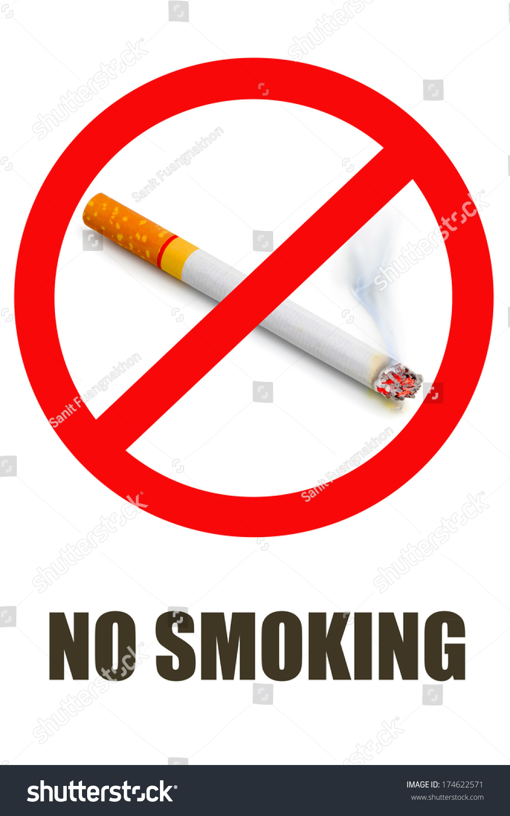 No smoking symbol text on white stock photo 174622571 shutterstock no smoking symbol and text on white background buycottarizona Images