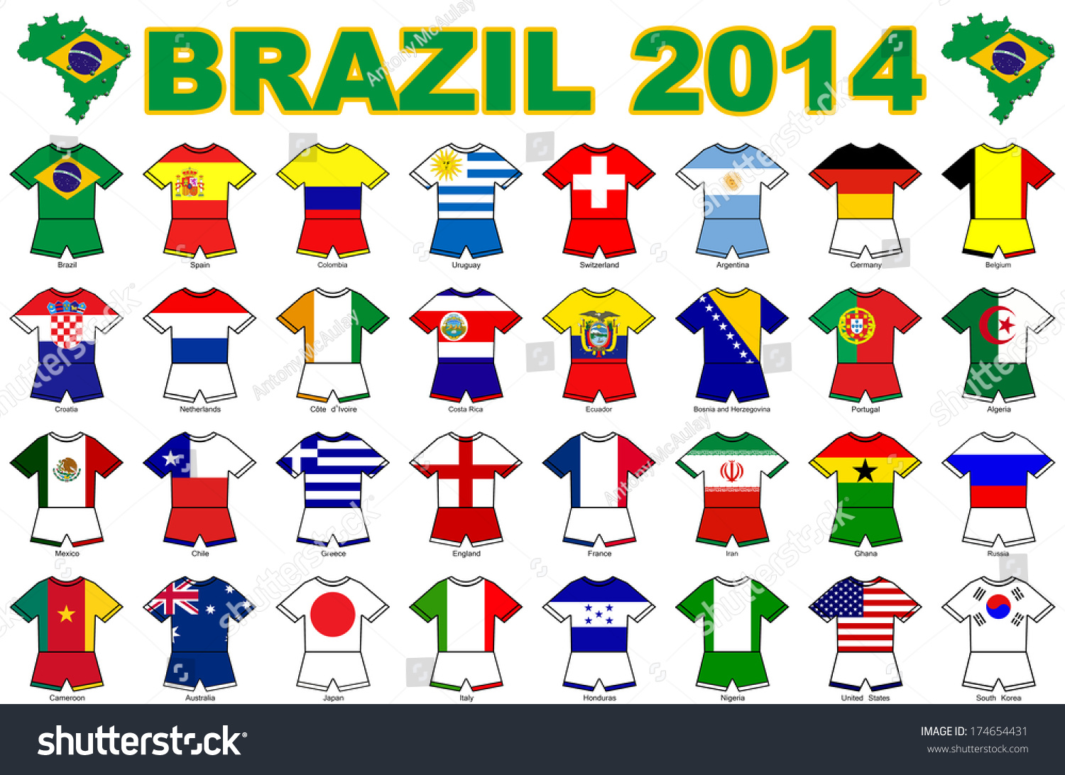Collection Kit Shaped Flags All National Stock ...