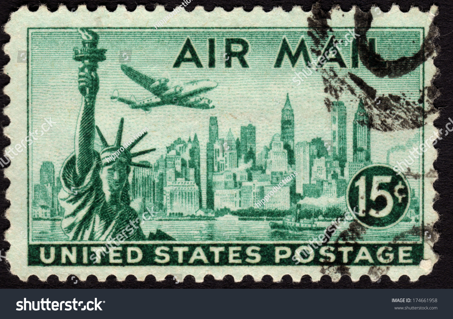 1947 United States Postage Stamp In The Value Of 15c Used