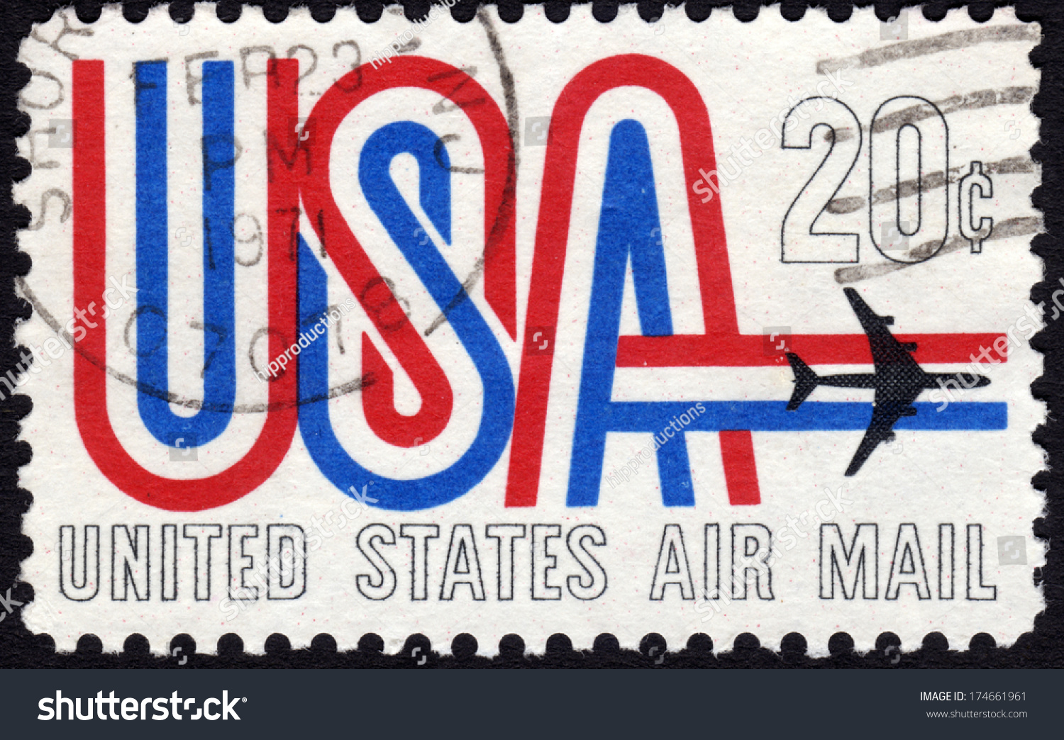 1968 United States Postage Stamp In The Value Of 20c Used