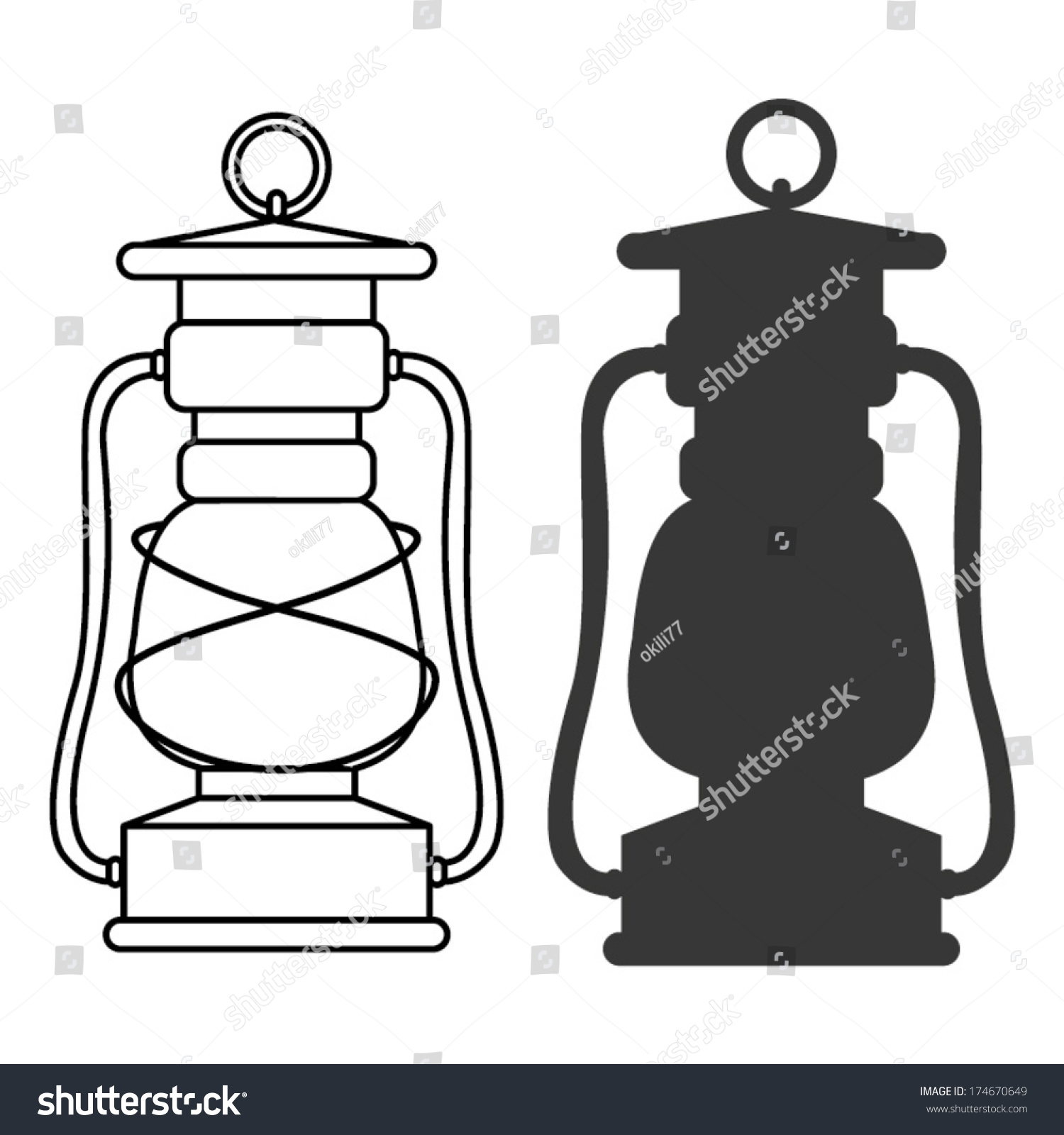 how to draw a camping lantern