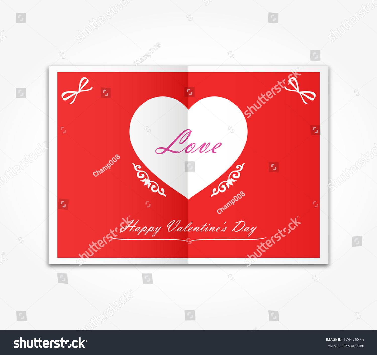 Vector Love Messages White Heart Symbol Stock Vector Royalty Free