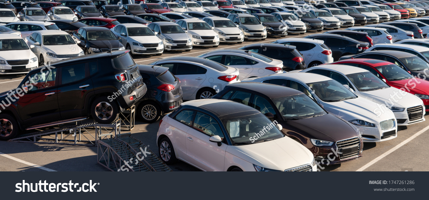 Cars in a row. Used car sales #1747261286