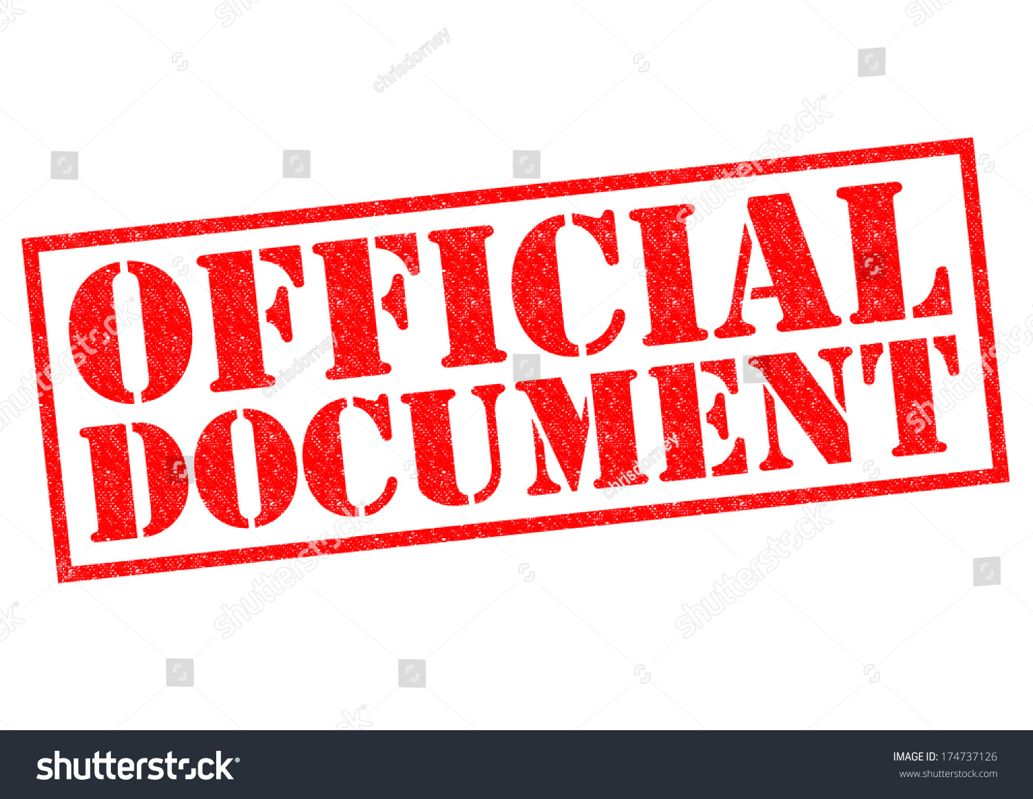 official document red rubber stamp over stock illustration 174737126
