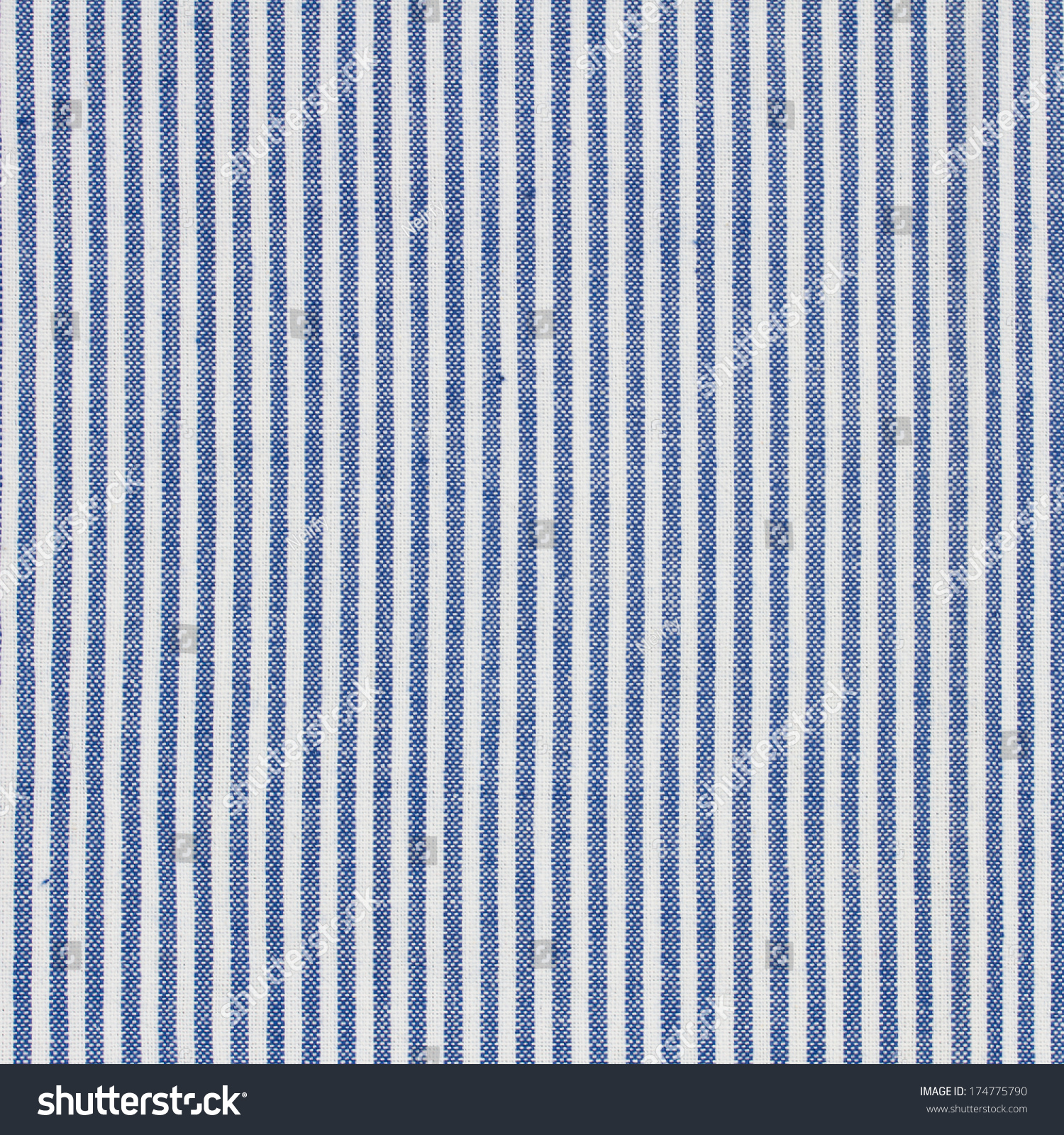 Blue And White Stripes Fabric Closeup , Tablecloth Texture