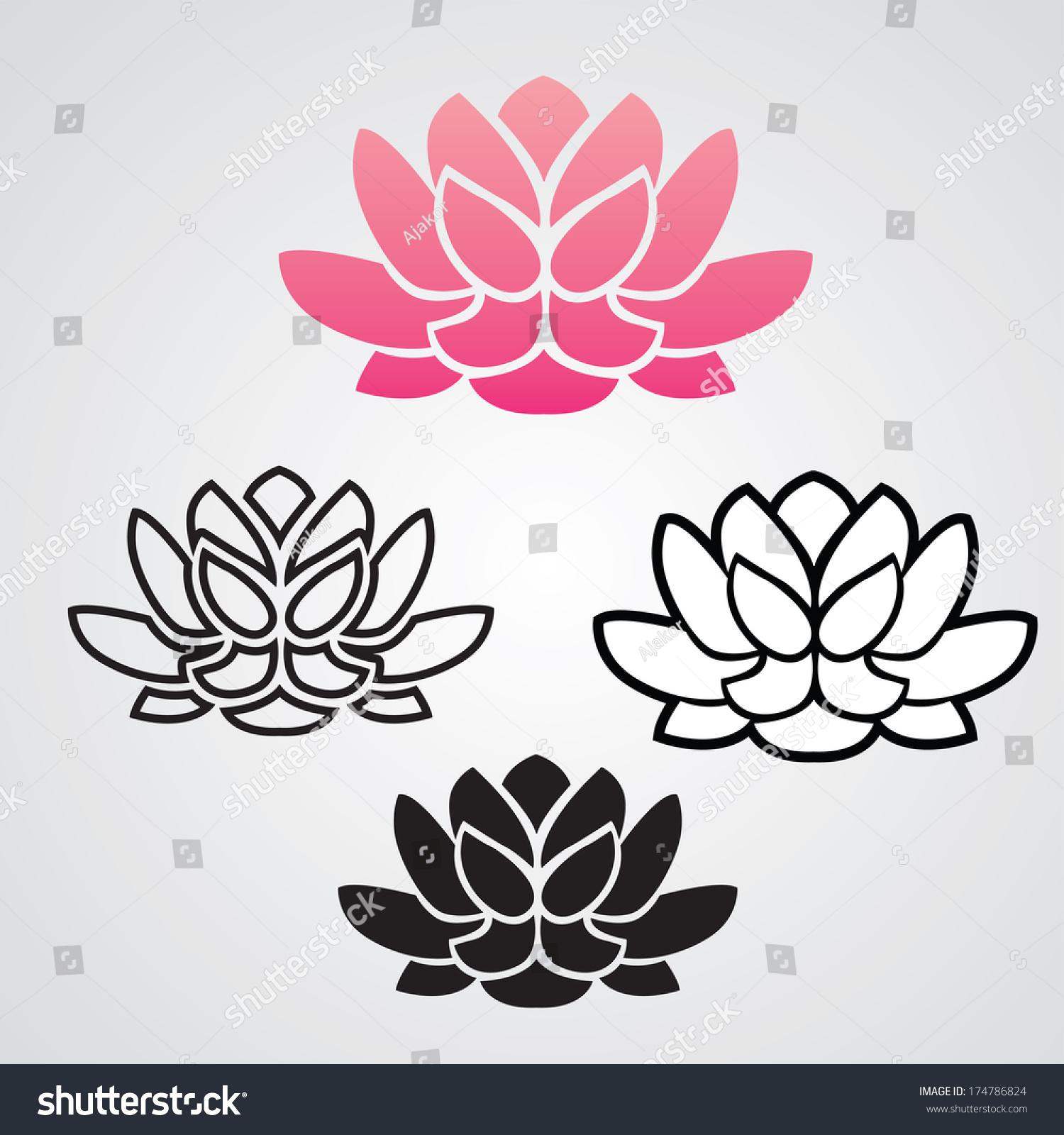 Symbol yoga lotus flower graphic vector stock vector royalty free the symbol of yoga lotus flower graphic vector illustration izmirmasajfo