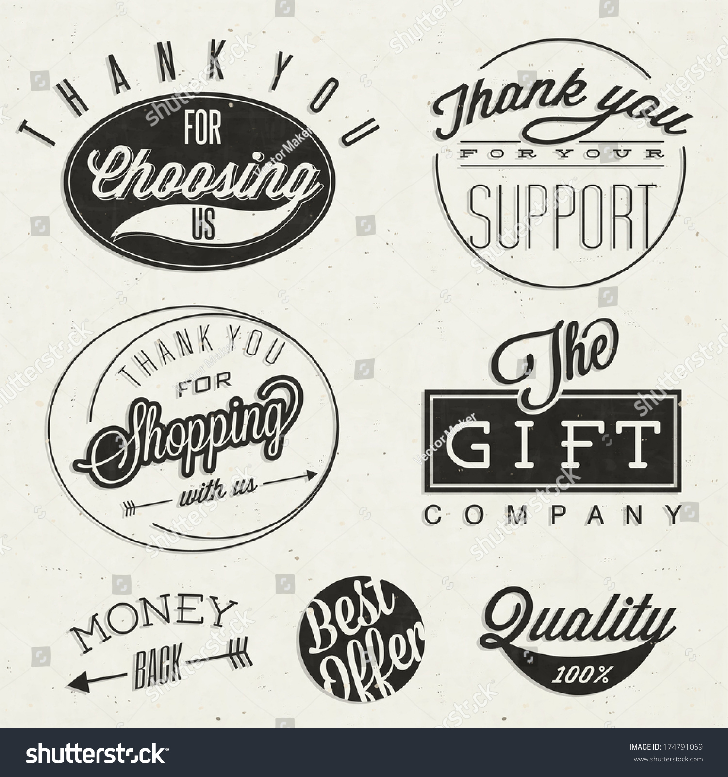 Thank You Choosing Us Thank You Stock Vector Royalty Free