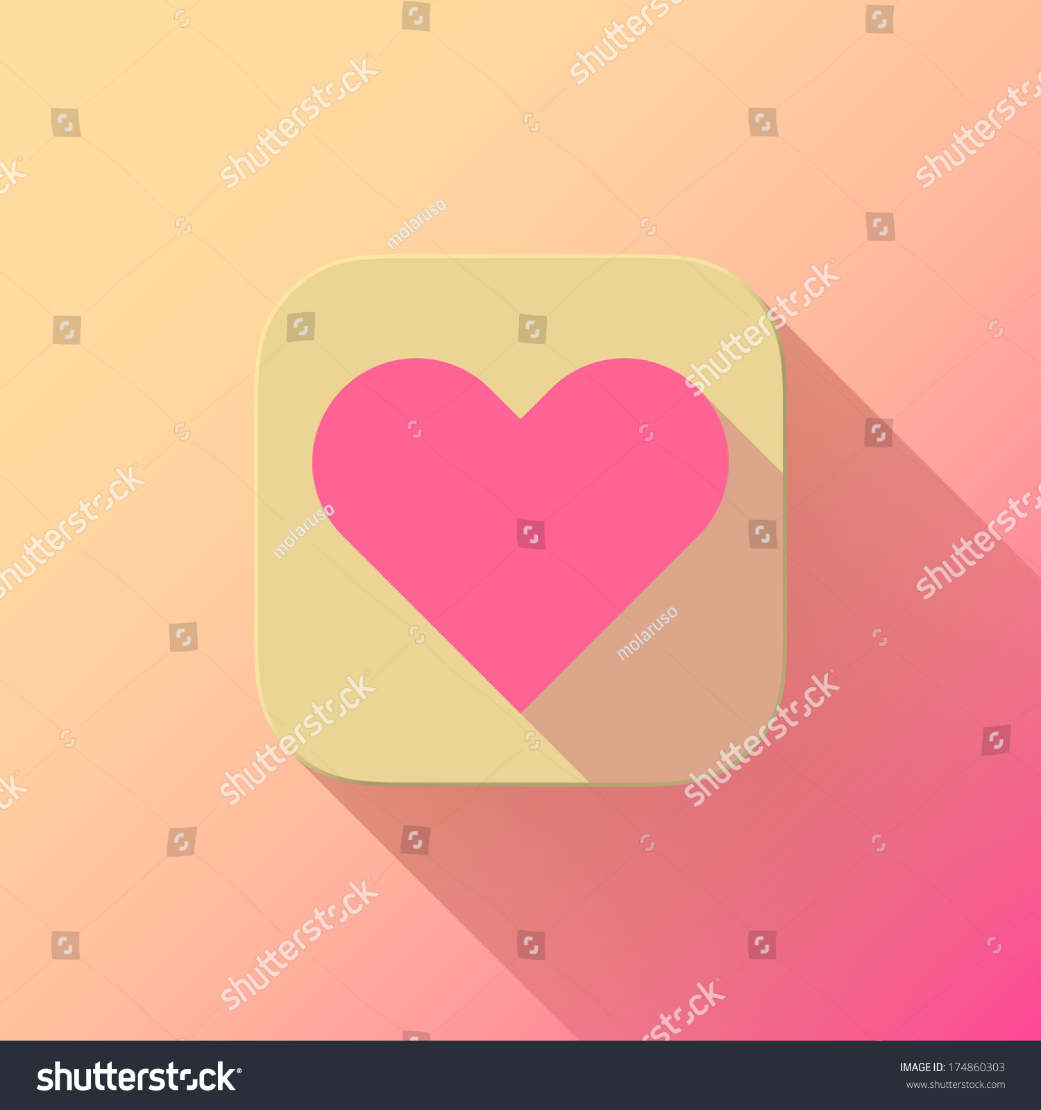 yellow abstract app icon pink valentines stock vector 174860303 shutterstock