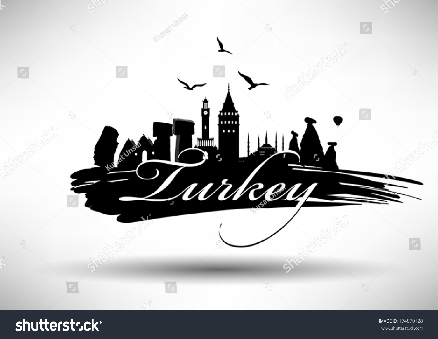 Turkeys landmark design stock vector 174870128 shutterstock for Landmark design