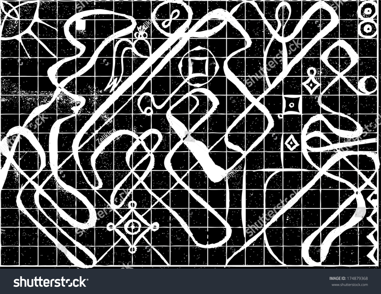 Stock Illustration Volleyball Tribal Abstract Vector: Vector Illustration Of Black & White Triangle Tribal