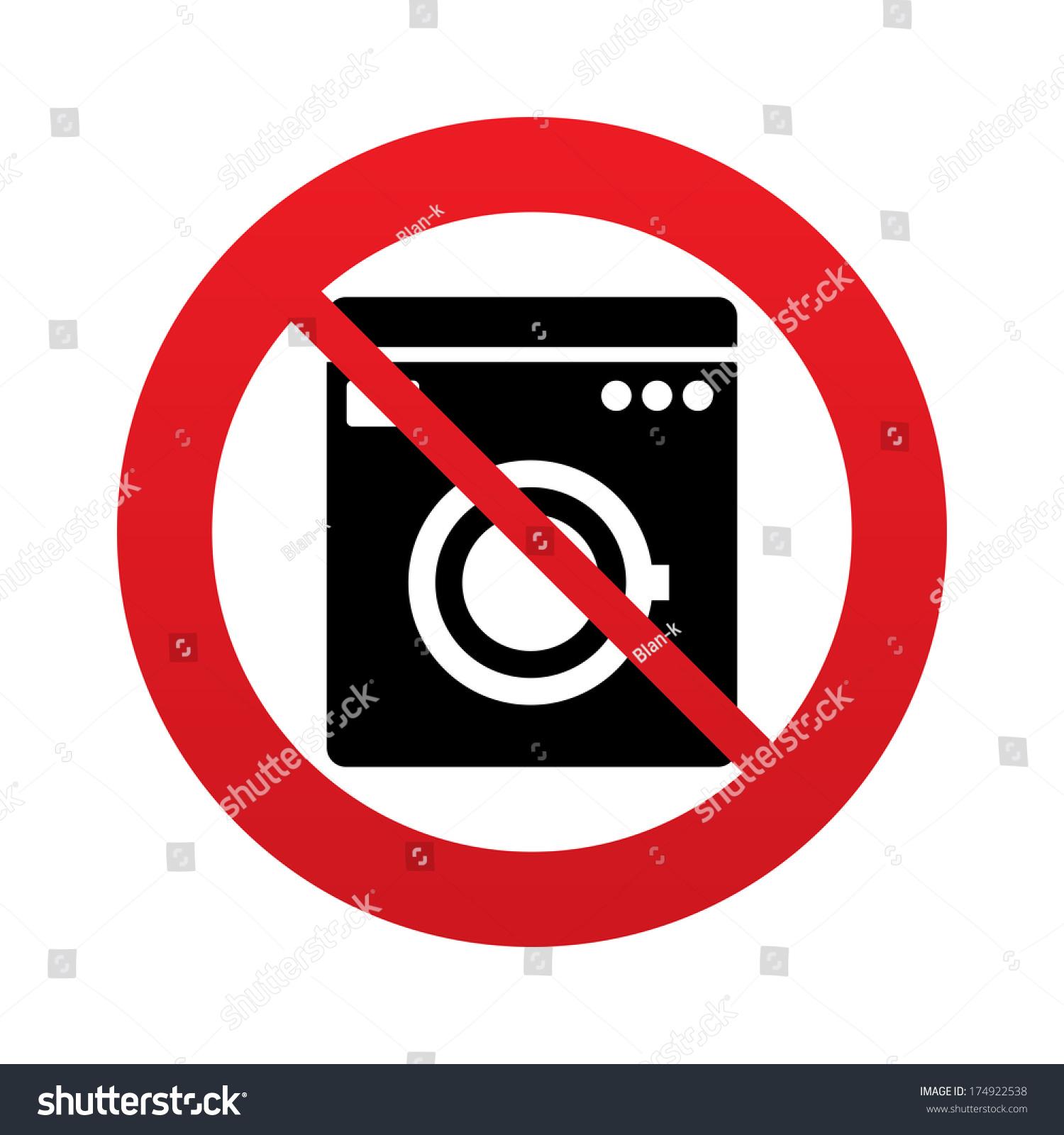 no machine wash symbol