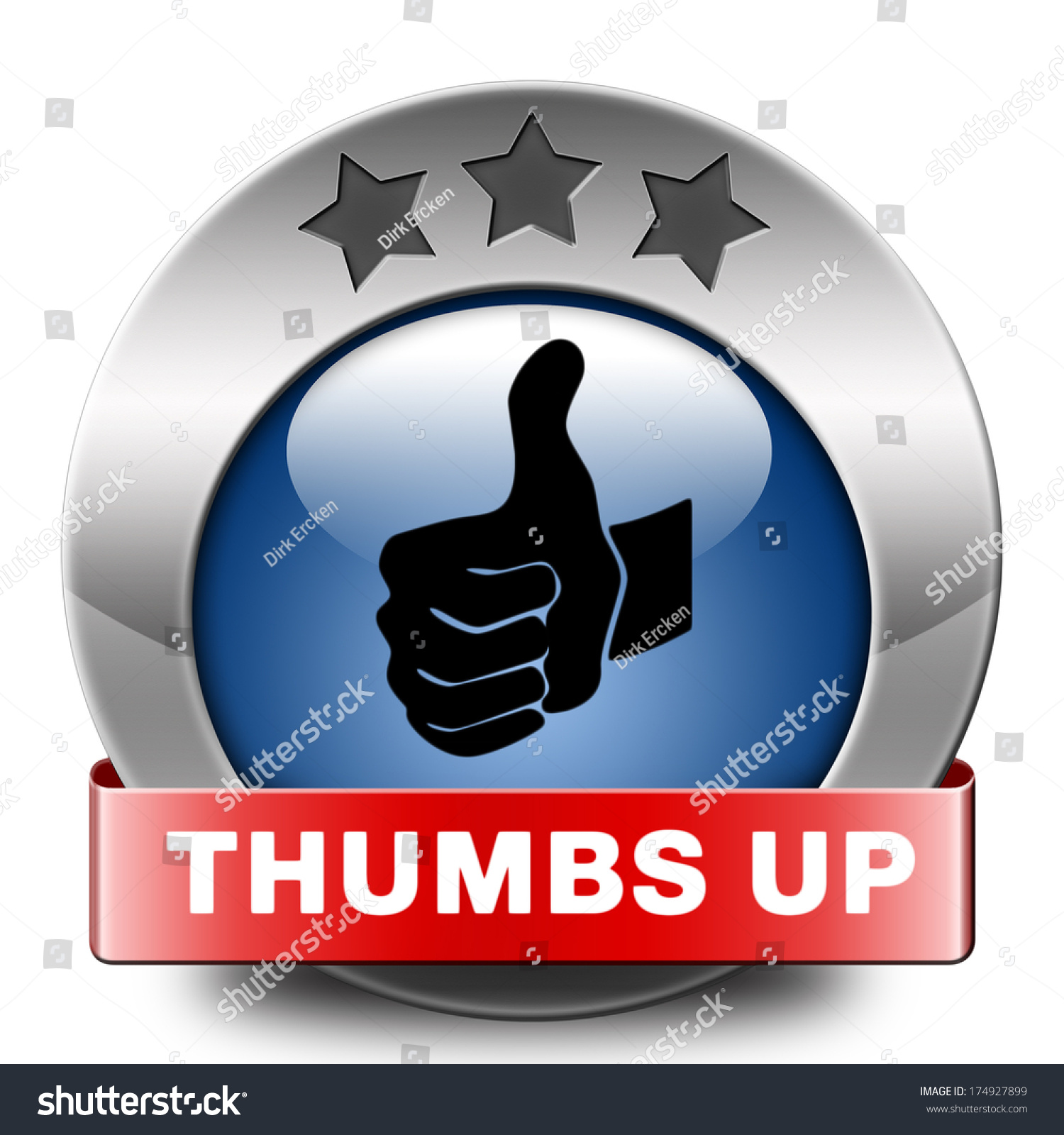 stock photo thumbs up good and excellent work job well done and task finished and ac plished sign or icon