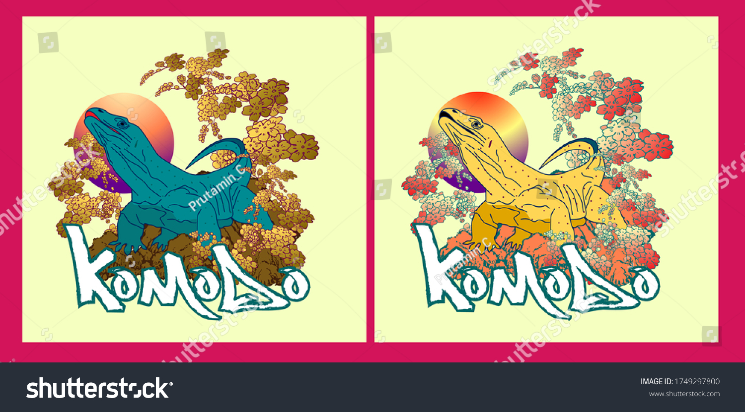 komodo or indonesia's dragon illustration design for sukajan is mean japan traditional cloth or t-shirt with digital hand drawn Embroidery Men T-shirts Summer Casual Short Sleeve Hip Hop T Shirt