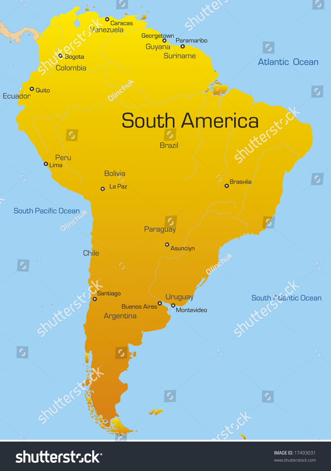 abstract map south america continent stock vector royalty free