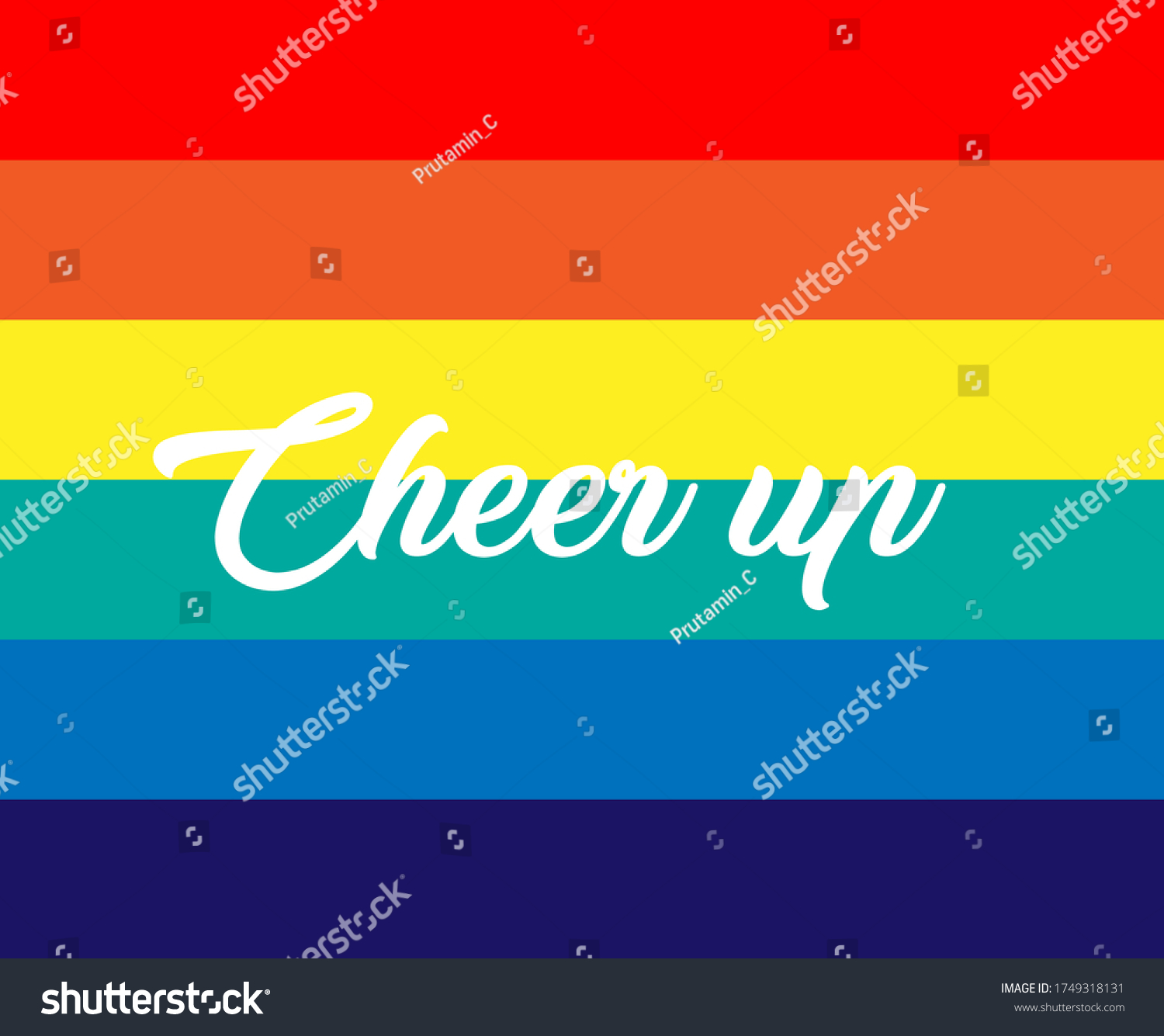 cheer up, beautiful greeting card background or template banner with rainbow theme. vector design illustration