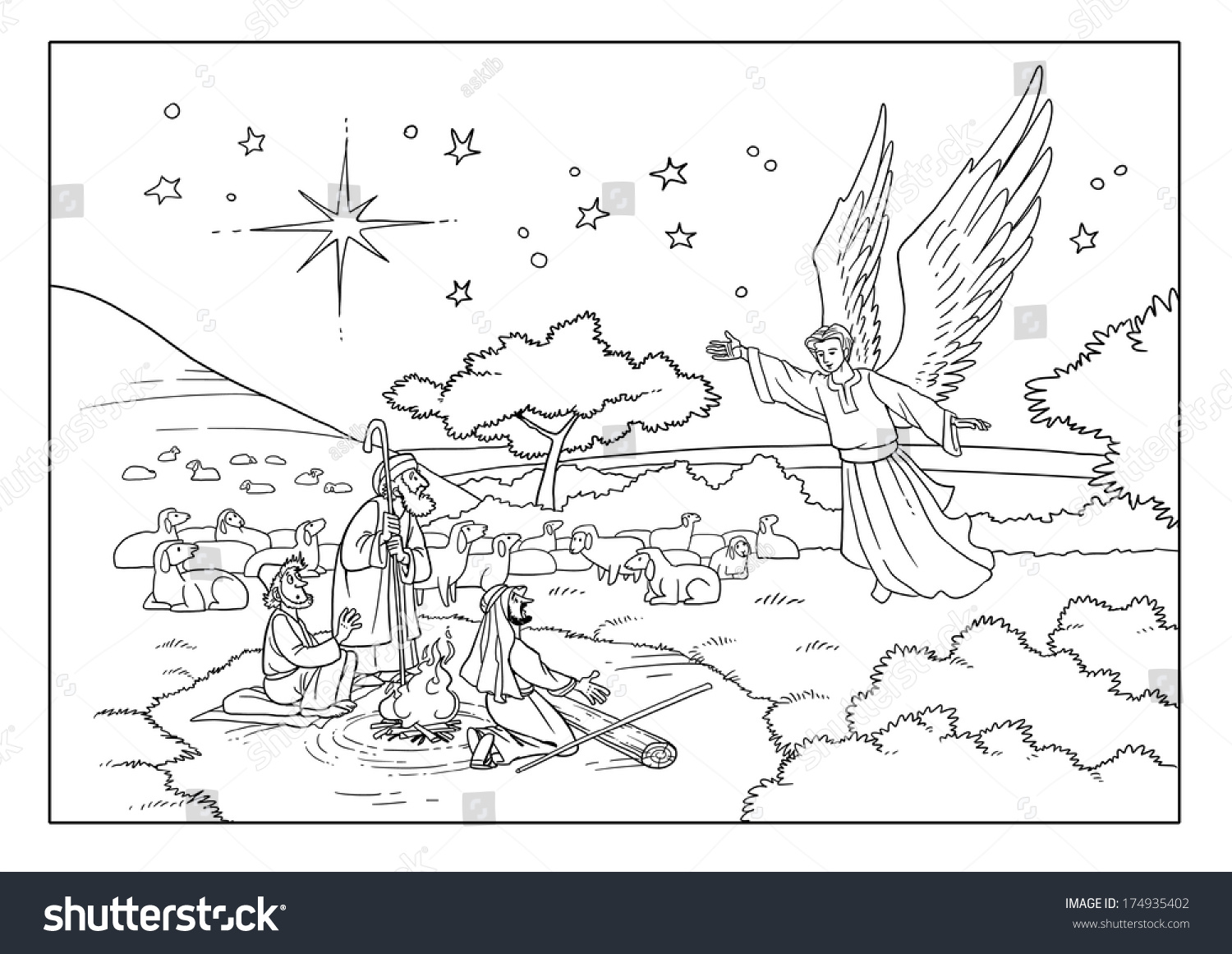 Christmas Story Shepherds And An Angel