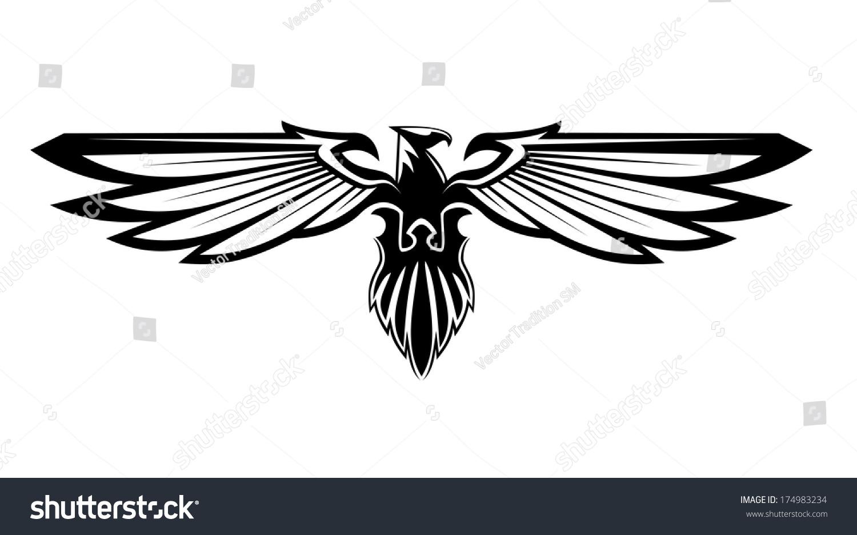 Eagle black and white logo - photo#22